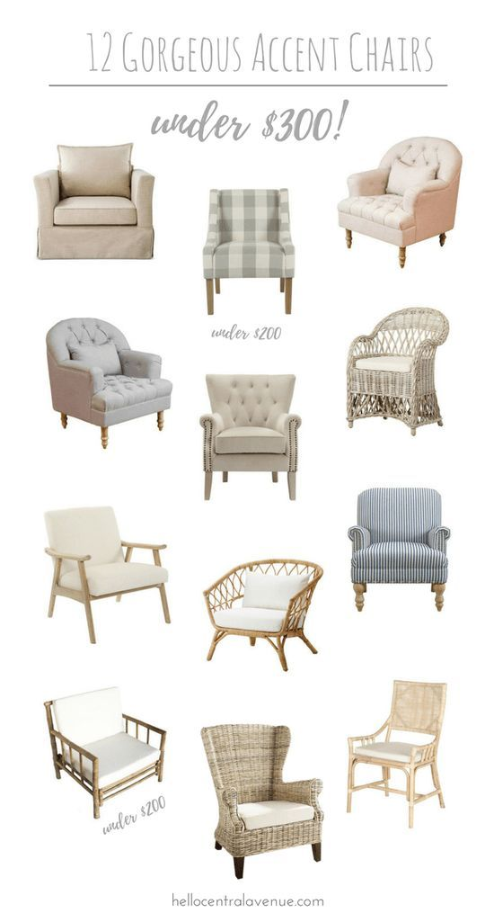 12 Gorgeous Accent Chairs Under 300 Hello Central Avenue Farm House Living Room Accent Chairs For Living Room Living Room Decor Living room accent chairs ideas