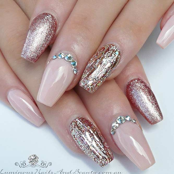Magnificent Ballerina Nail Shape Designs Coffin Nails Pinterest