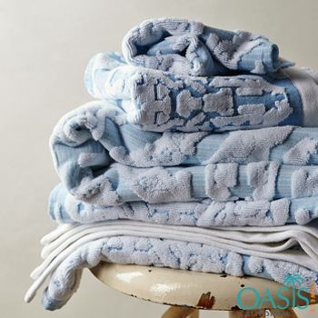 Bath Towels In Bulk Pearly Blue Selfembossed Plush Bath Towels  Bath Towels Wholesale