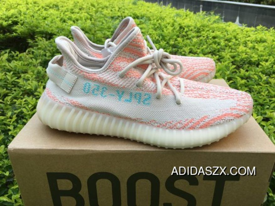 d26ca469c Discount Adidas Yeezy Boost 350 V2 Clear Brown-Chalk Coral-Clear Aqua