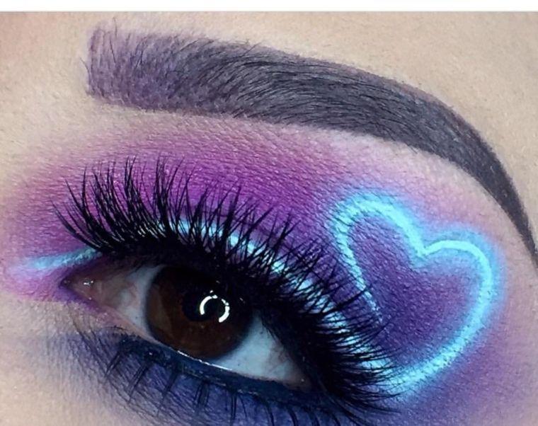 corazon brillante en el parpado Maquillaje fantasía Pinterest