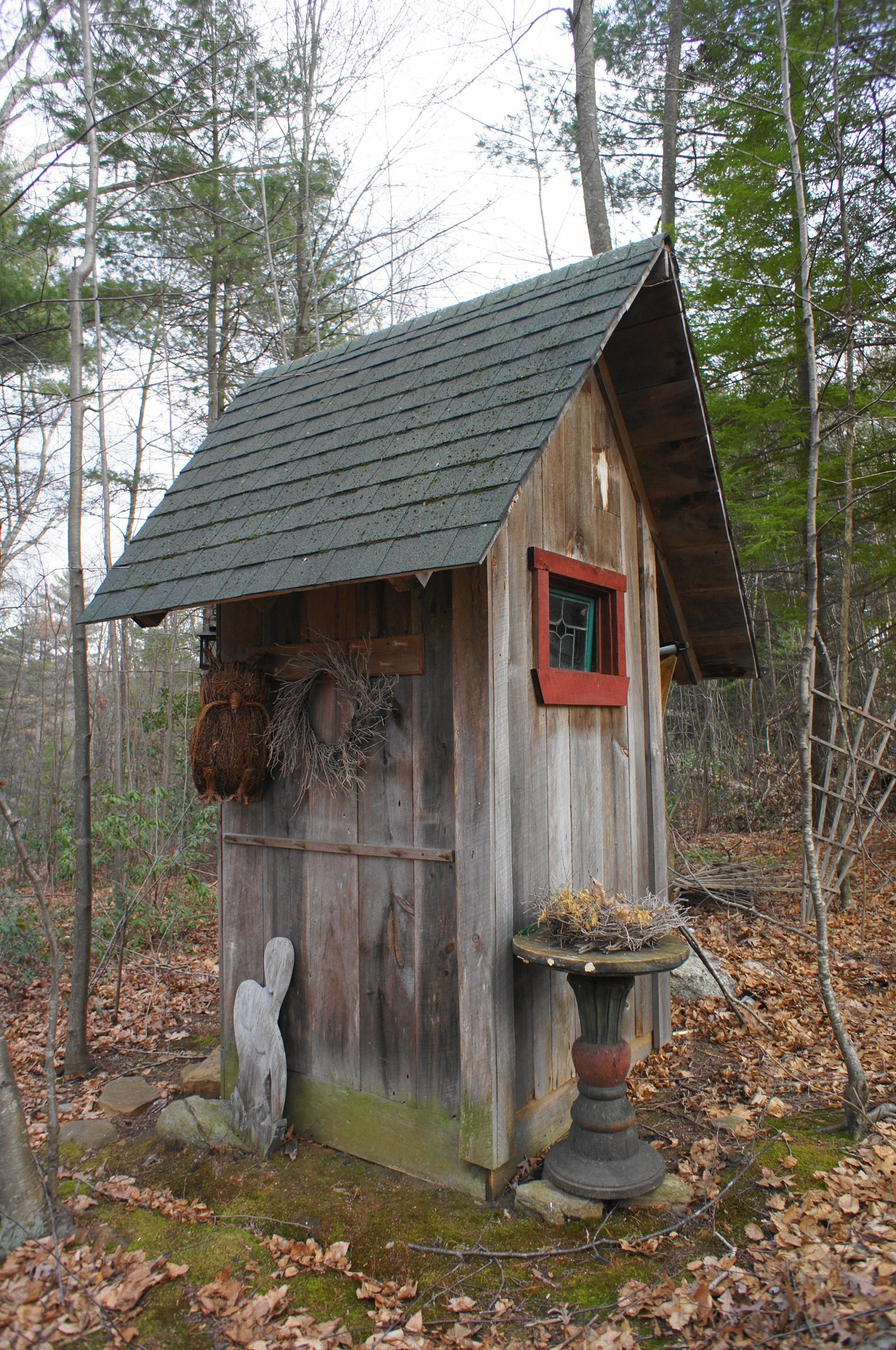 Outhouse At The Cabin The Woods At Long Pond Brimfield Ma
