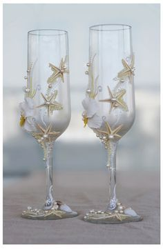 Wedding Wine Gl Decorating Ideas Pink Hand Decorated Champagne Gles Toasting Flutes Tradesy