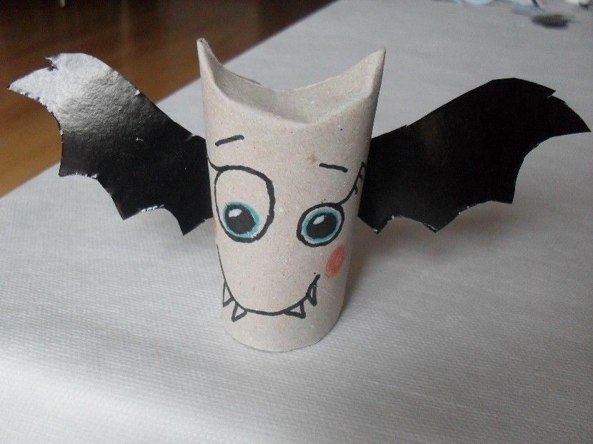 Halloween Murciélago Con Rollo De Papel Higiénico Rollos De Papel Higiénico Sobres De Papel Murcielagos