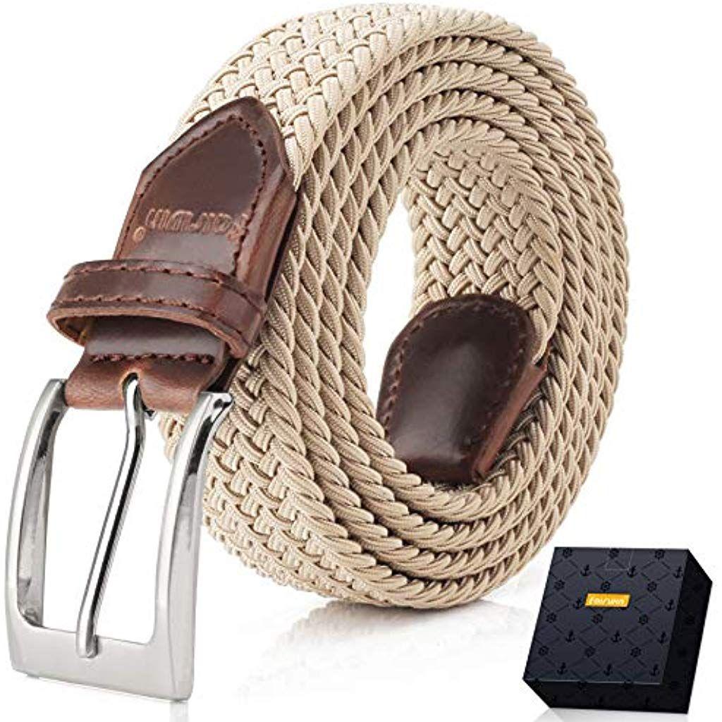 Confortevole Cintura in Tessuto Elastico Stretch,per Jeans Pantaloni Fairwin Cintura Elastica Intrecciata per Uomo e Donna