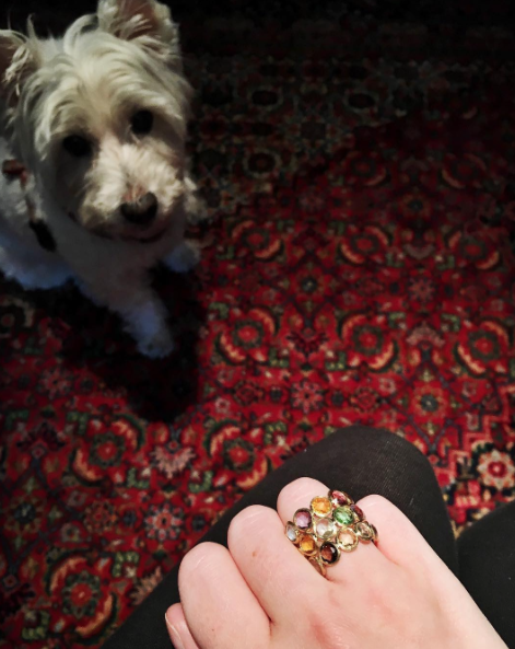 Spencer loves this mixed gemstone ring from Marco Bicego