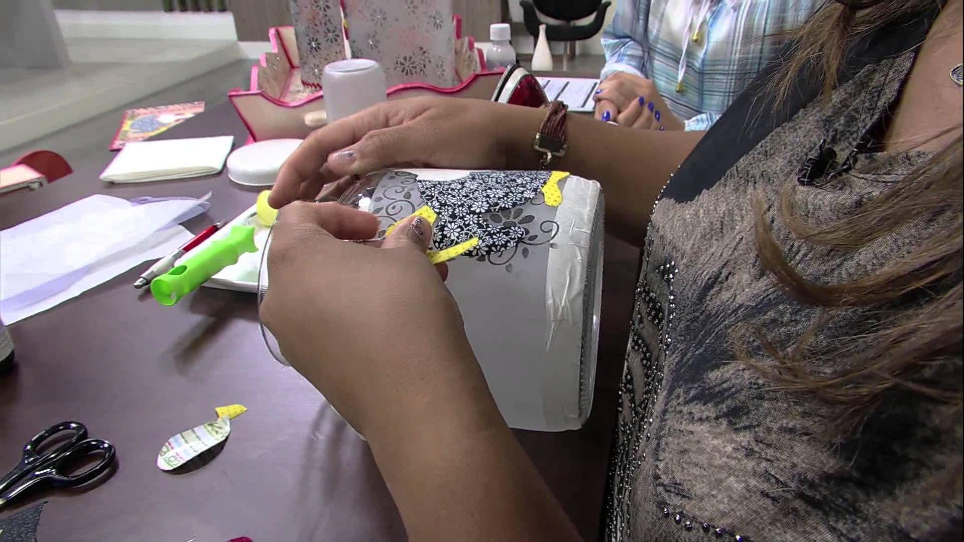Mulher.com 11/04/2014 Adriana Teixeira - Kit vidros
