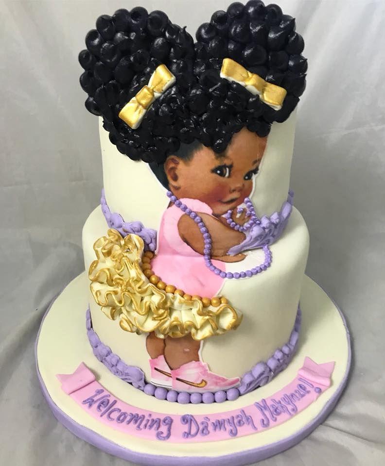 Afro Puff Baby Cake Tutorial
