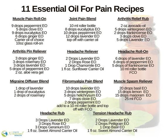 11 Amazing Essential Oil Pain Relief Recipes Amp Blends