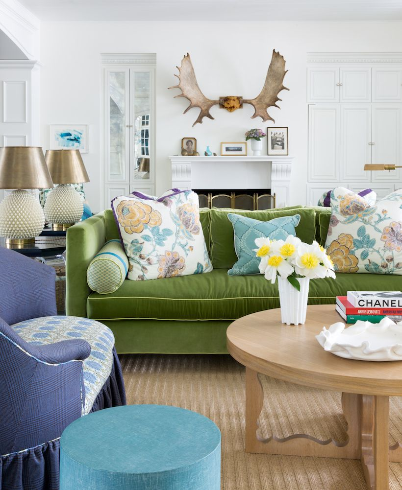 Vivacious Colorful Living Rooms Fun And Comfort: Kristin's Fearless + Fun Home