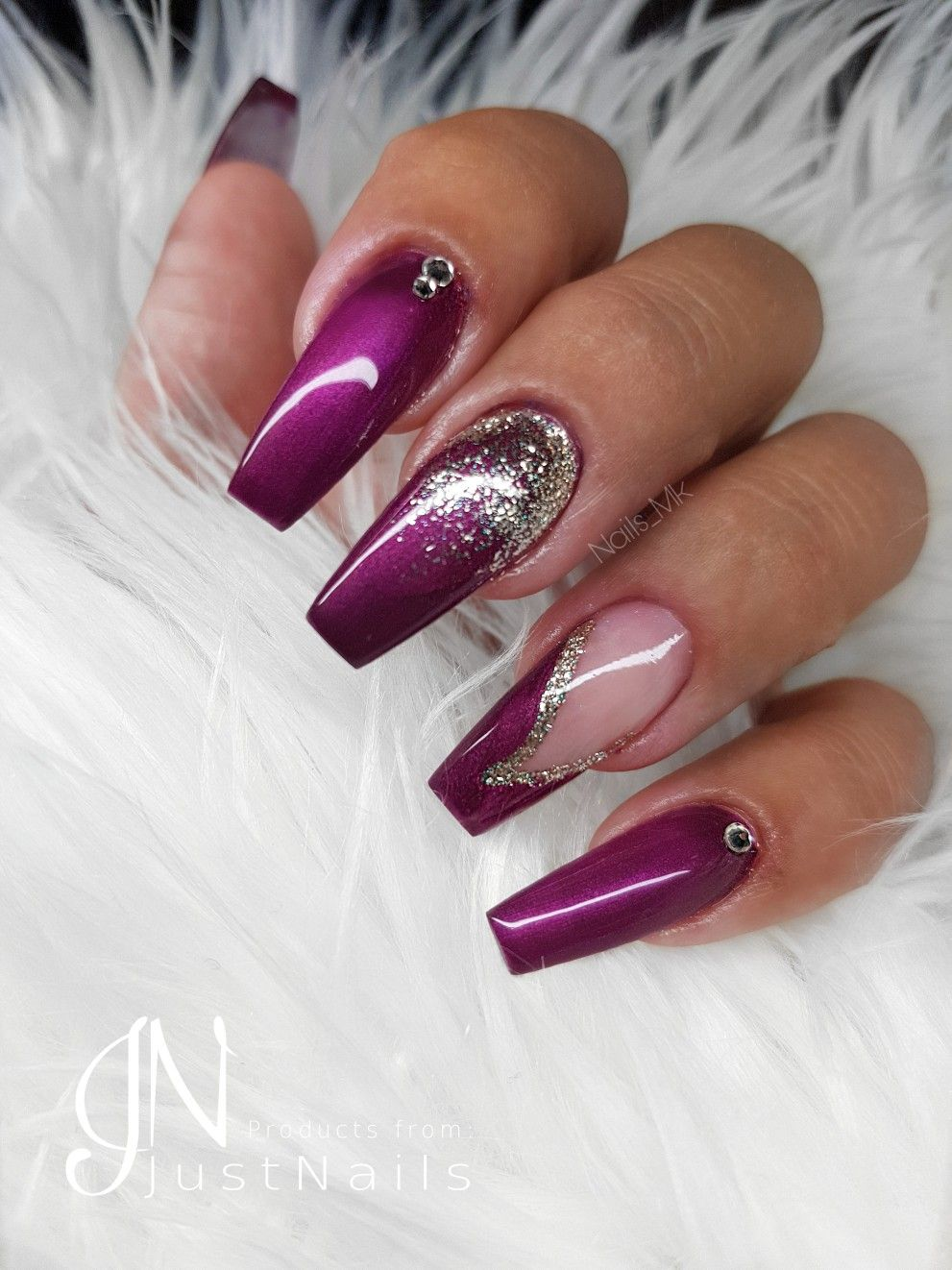 Pink Berry Nails Nagel Berry Nails Plum Nails Coffin Nails Designs