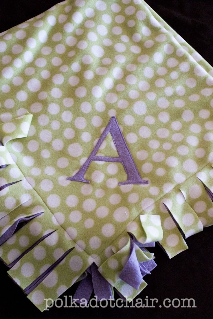 Easy Peasy Fleece Blanket Tutorial The Polkadot Chair Initials