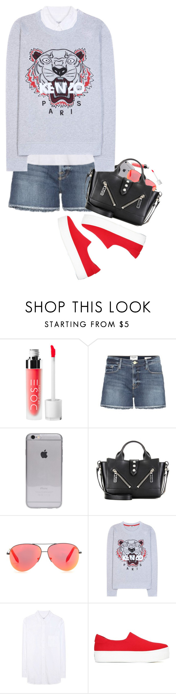 """Kenzo Casuals"" by hollowpoint-smile ❤ liked on Polyvore featuring Frame Denim, Kenzo, Victoria Beckham and Equipment"