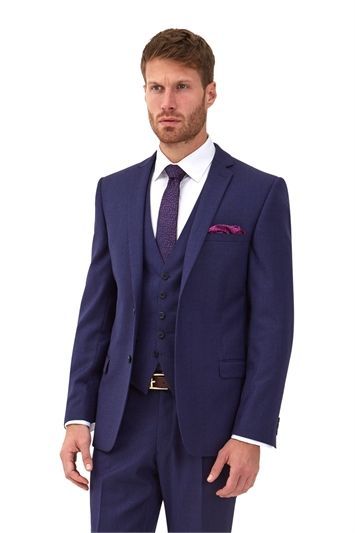 a73a08ca116f Ted Baker Tailored Fit Blue with Violet Check Mix and Match Suit Jacket