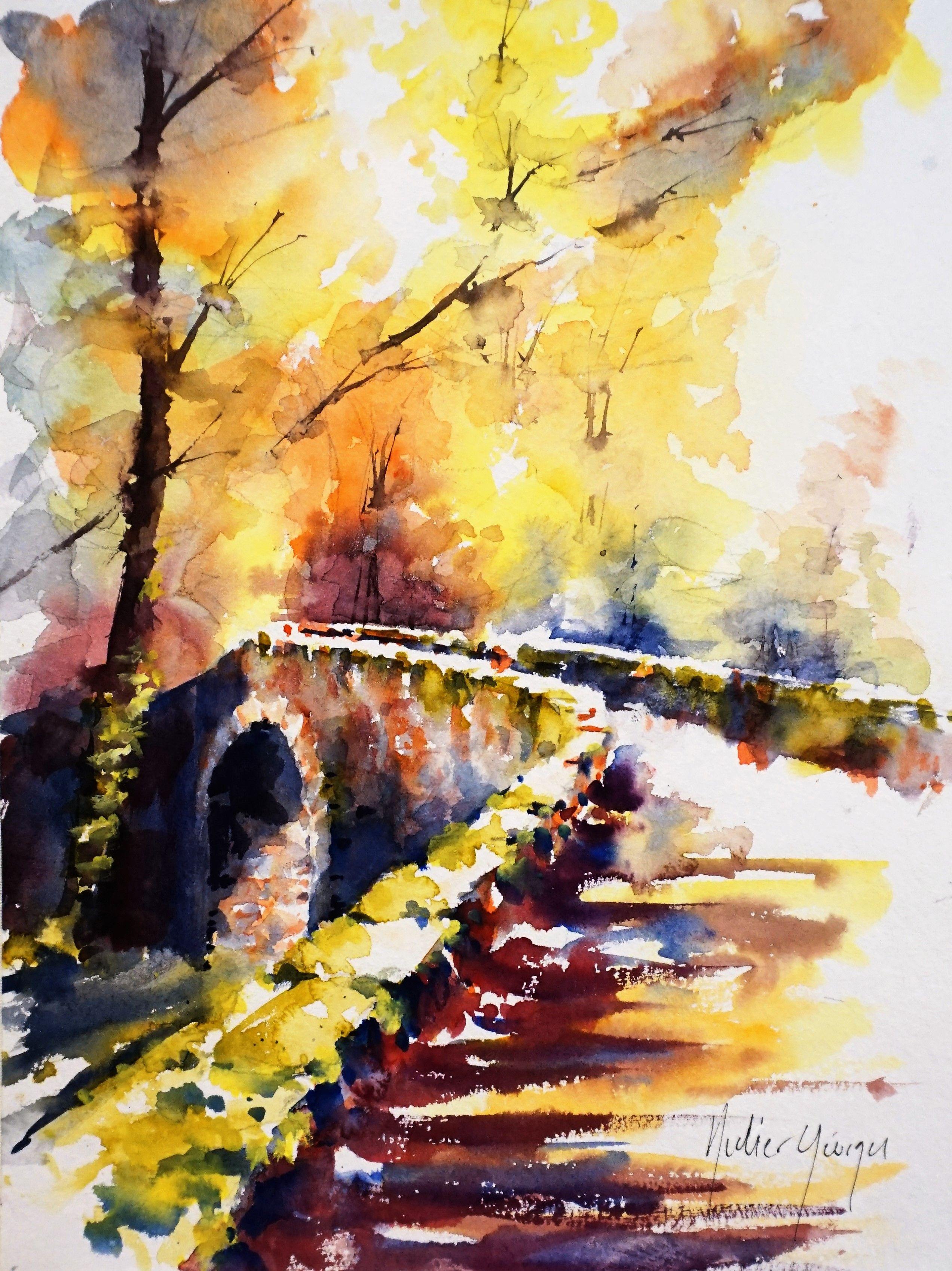 Aquarelle De Didier Georges Watercolor Art Landscape Watercolor
