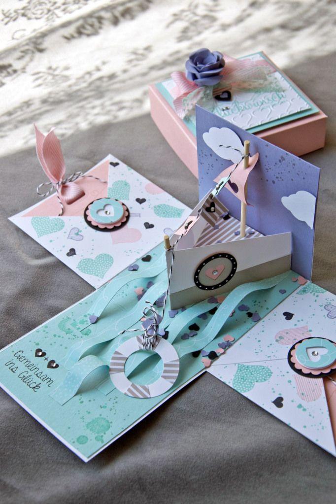 explosionsbox hochzeits schiffsreise explosionsbox pinterest box explosionsbox und geschenke. Black Bedroom Furniture Sets. Home Design Ideas