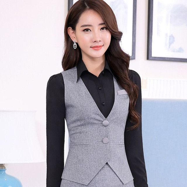 Item Type: Outerwear & Coats Outerwear Type: Vest Gender: Women Decoration: Button,Pockets Clothing Length: Regular Sleeve Style: Regular Pattern Type: Solid Closure Type: Single Breasted Style: Forma