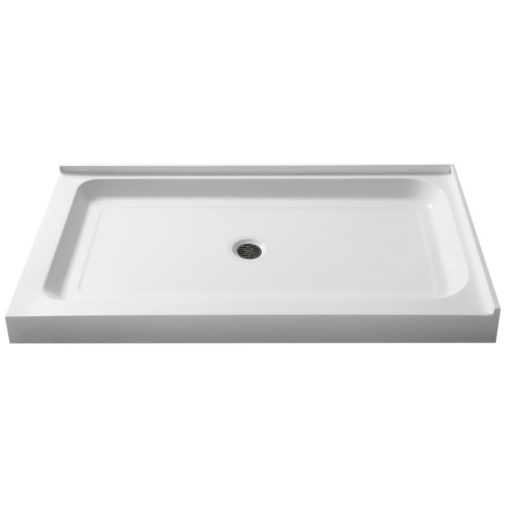 Anzzi Port 36 In X 48 In Double Threshold Shower Base In White