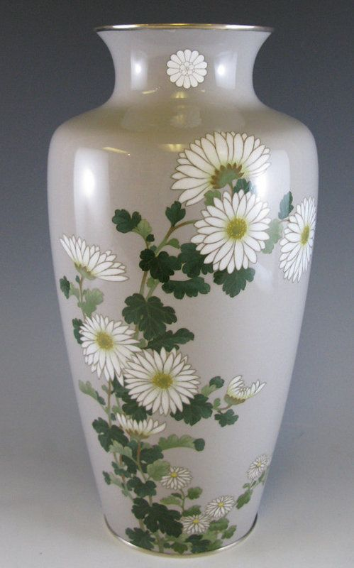 Imperial Presentation Ando Cloisonn Vase With Kiku Art From The