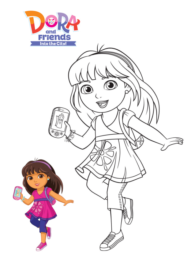 Pin By Shuntae On Coloring Pages Dora And Friends Princess Coloring Pages Mermaid Drawings