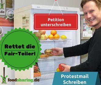 Rette die foodsharing Fair-Teiler: GEGEN STAATLICH VERORDNETE VERSCHWENDUNG