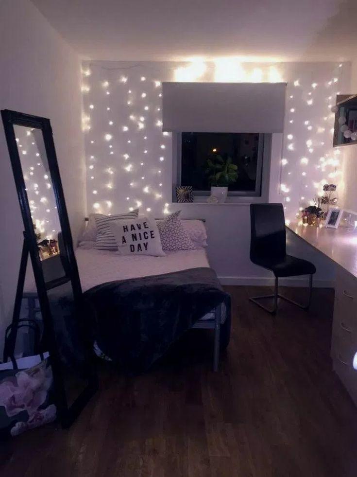 35+ süße Mädchen Schlafzimmer Ideen für kleine Zimmer #cutebedroom #bedroomdesign #bedroom ..... #bohemianbedrooms