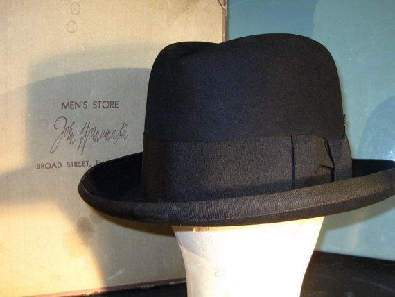 Antique Vintage Homburg Hat 1940 S 7 1 8 Men Store Vintage Men Hats