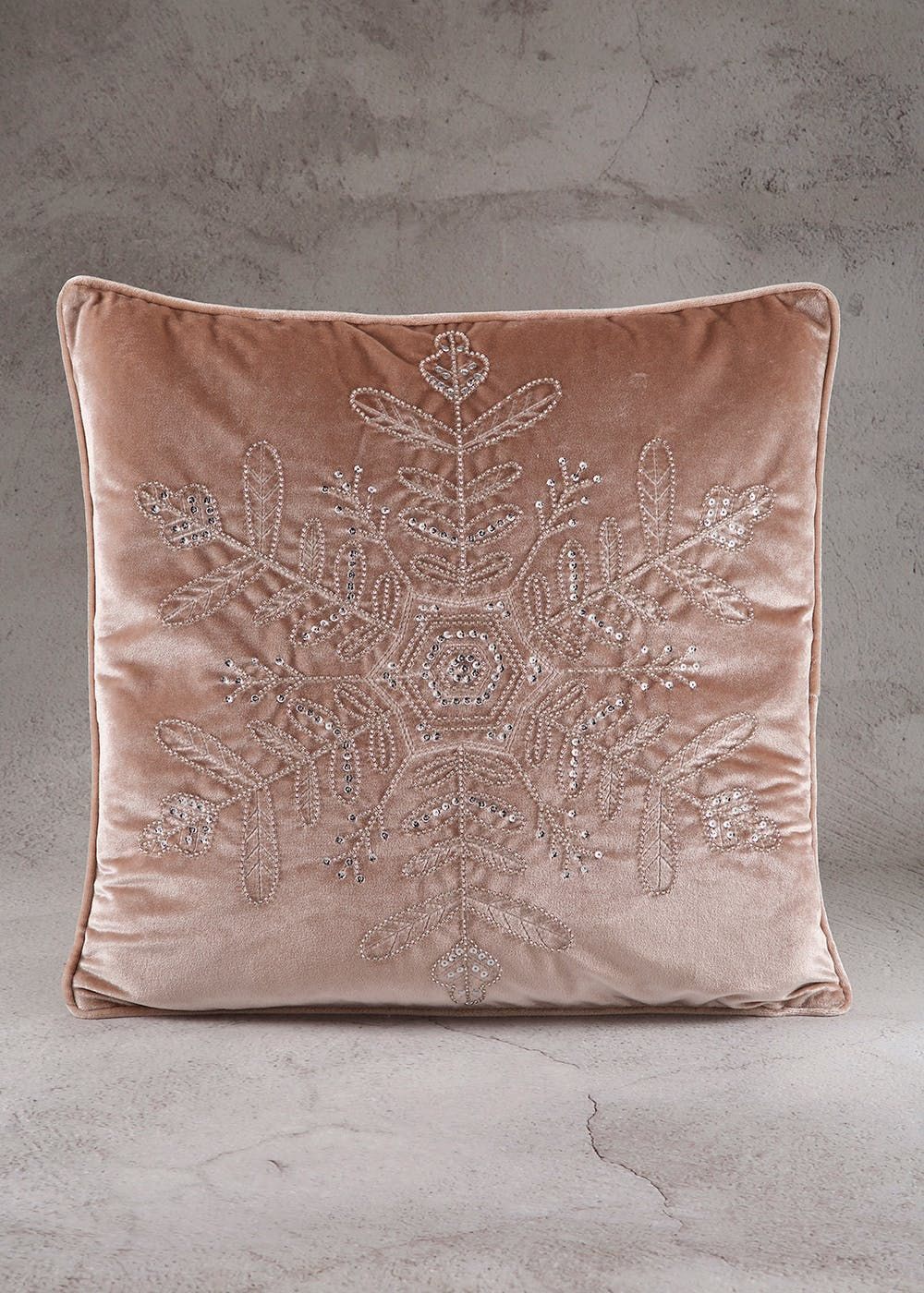 Sequin Snowflake Christmas Cushion (45cm x 45cm) 63b7a13f1