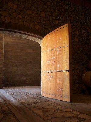 Sanford Winery, Santa Ynez Valley Curved door into wine room.