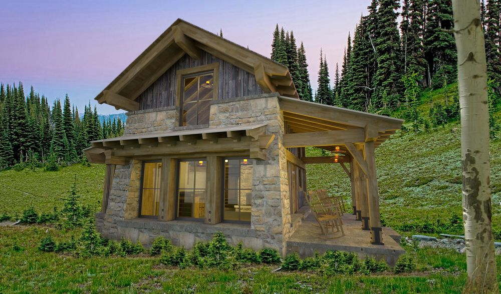 Designed By Stuart Arc, A Steamboat Springs Architectural Firm, It Features  A Stone And Timber Exterior Pierced By Large Glazed Openings.