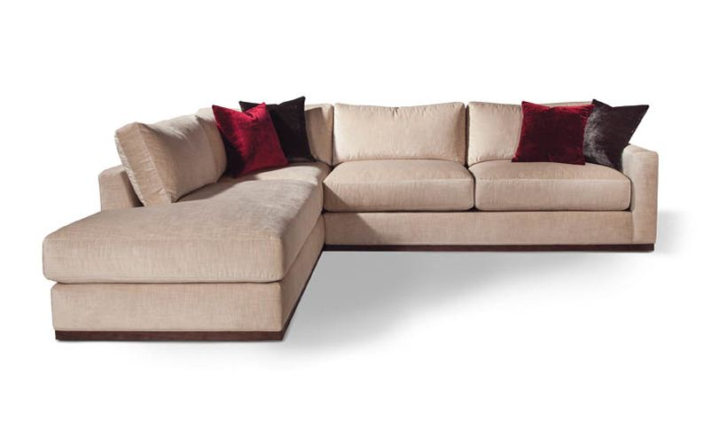 Sectional sofa with Wood Base around base