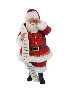 Santa's Workshop 10 Inch Traditional Santa With List. Jolly and festive, this 10-inch traditional Santa with a list is the perfect holiday mantle piece.