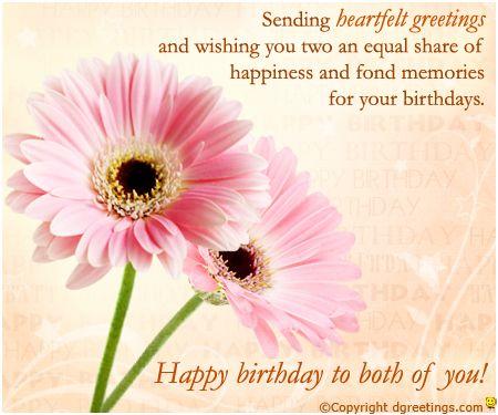 Twins Birthday Cards My Birthday Pinterest Interiors - birthday greetings download free