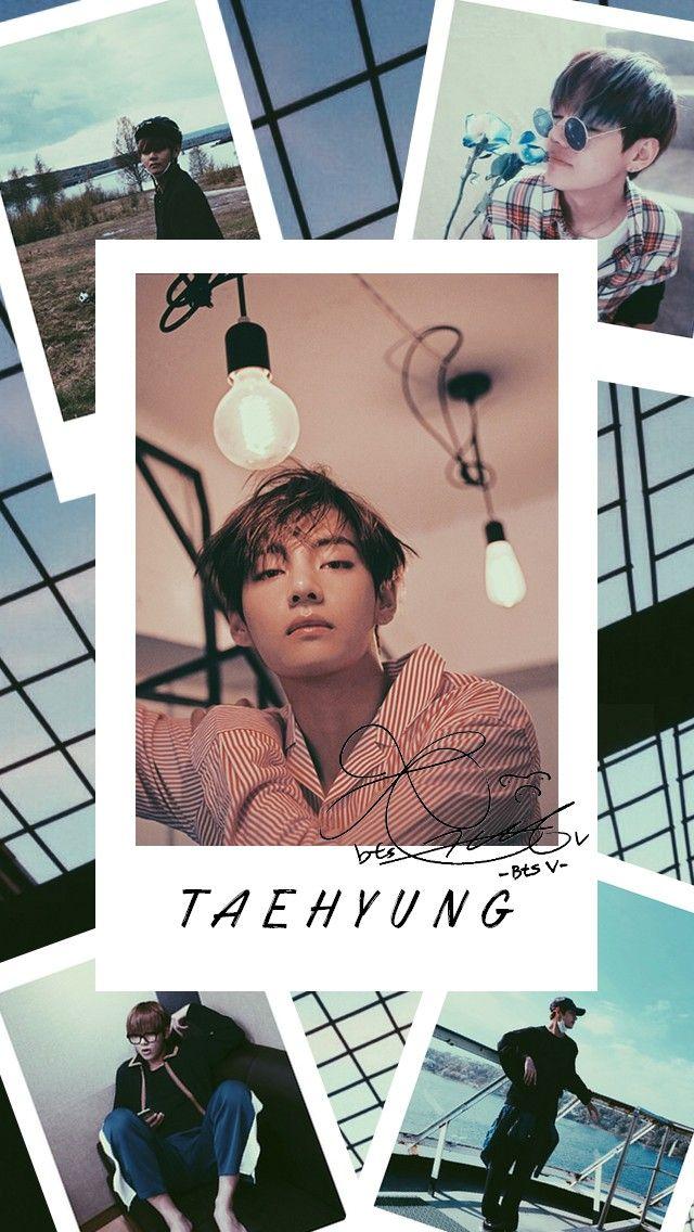 Taehyung BTS Aesthetic Lockscreen V kpop | Wallpaper lucu ...