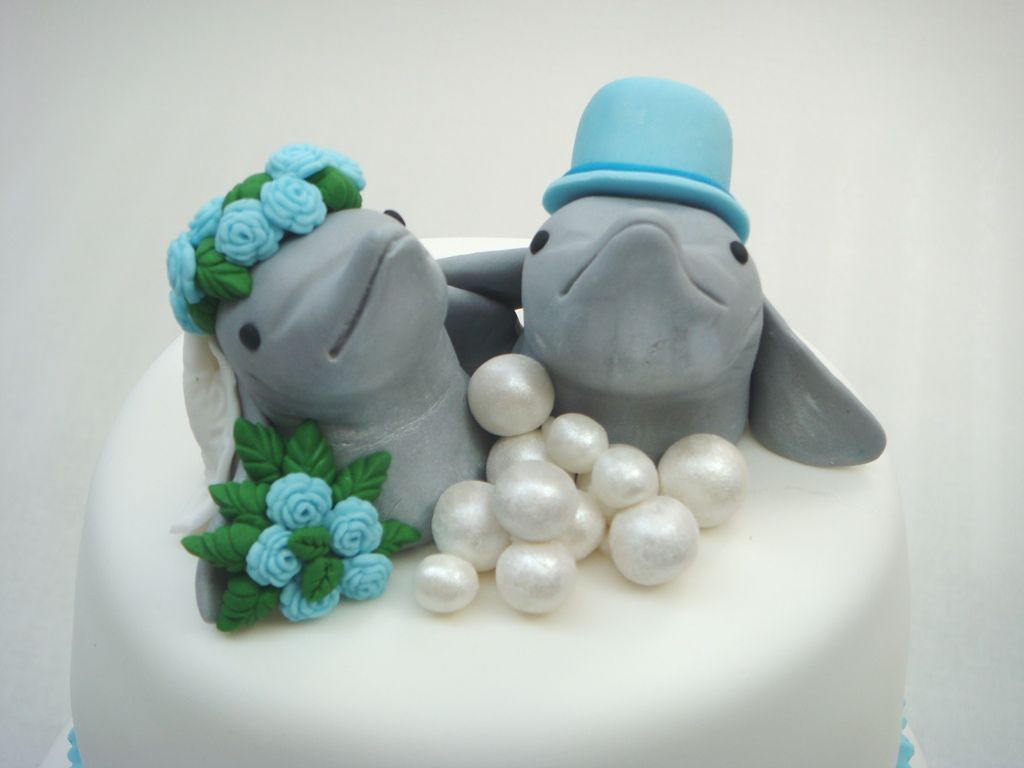 Dolphin Cake Topper Dolphins Pinterest Dolphin cakes Cake and
