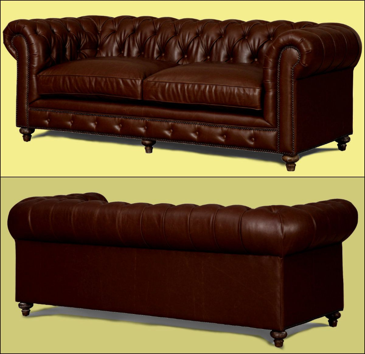 Best Brown Leather Chesterfield Sofa This Sofa Is Upholstered 400 x 300