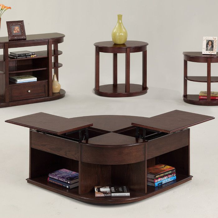 Darby Home Co Wilhoite Coffee Table With Double Lift Top Reviews Wayfair