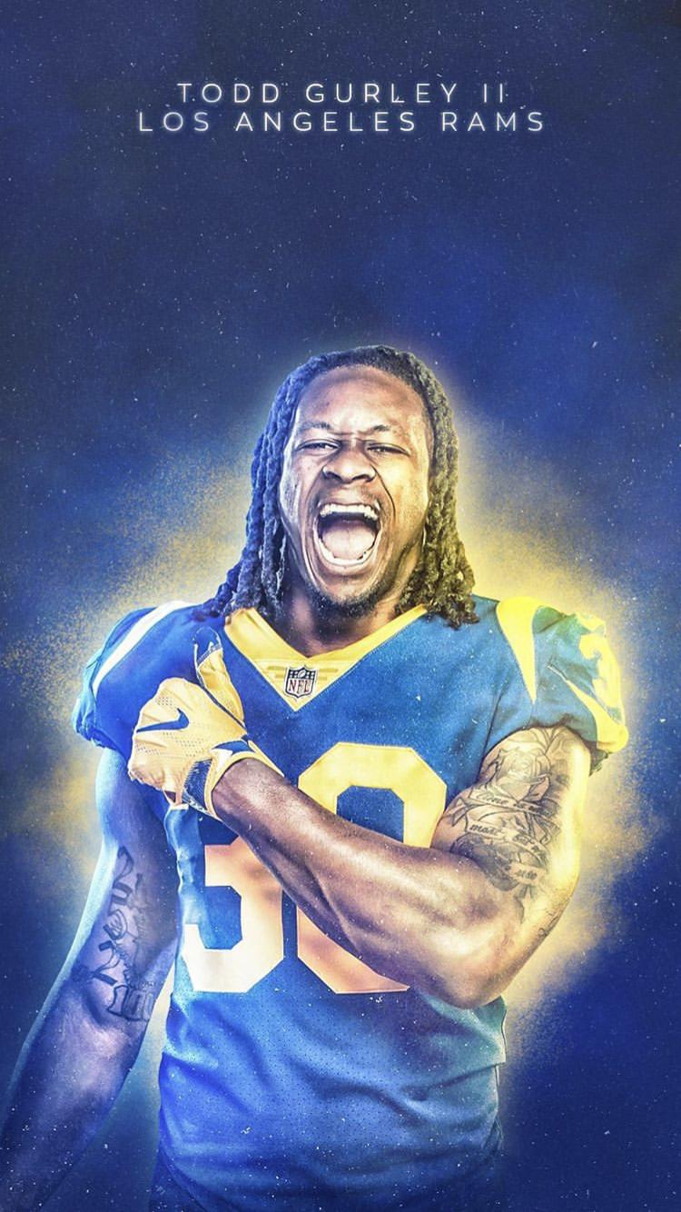 Todd Gurley Football Poster Sports Design Nba Legends
