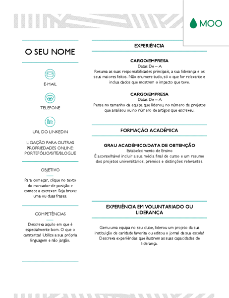 Curriculo Criativo Concebido Pela Moo Creative Cv Cv Design Creative Office Templates