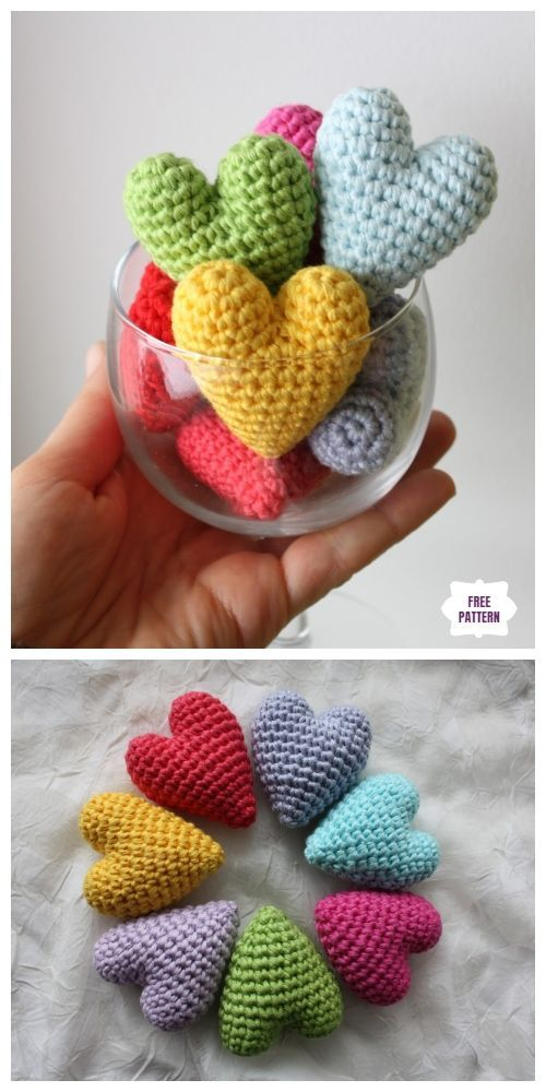 Crochet Heart Amigurumi Free Patterns With Video Tutorial #amigurumitutorial Cro...