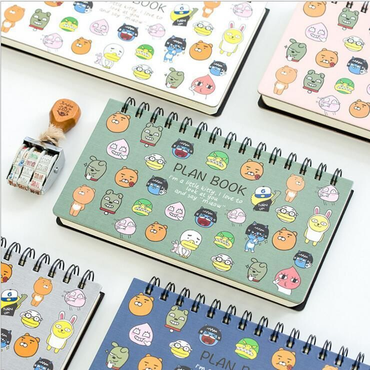 Plan Book 1pc Cute Planner Notebook Coil Diary Planning Lined Free Note Papers Notebook Planner Plan Book Cute Planner