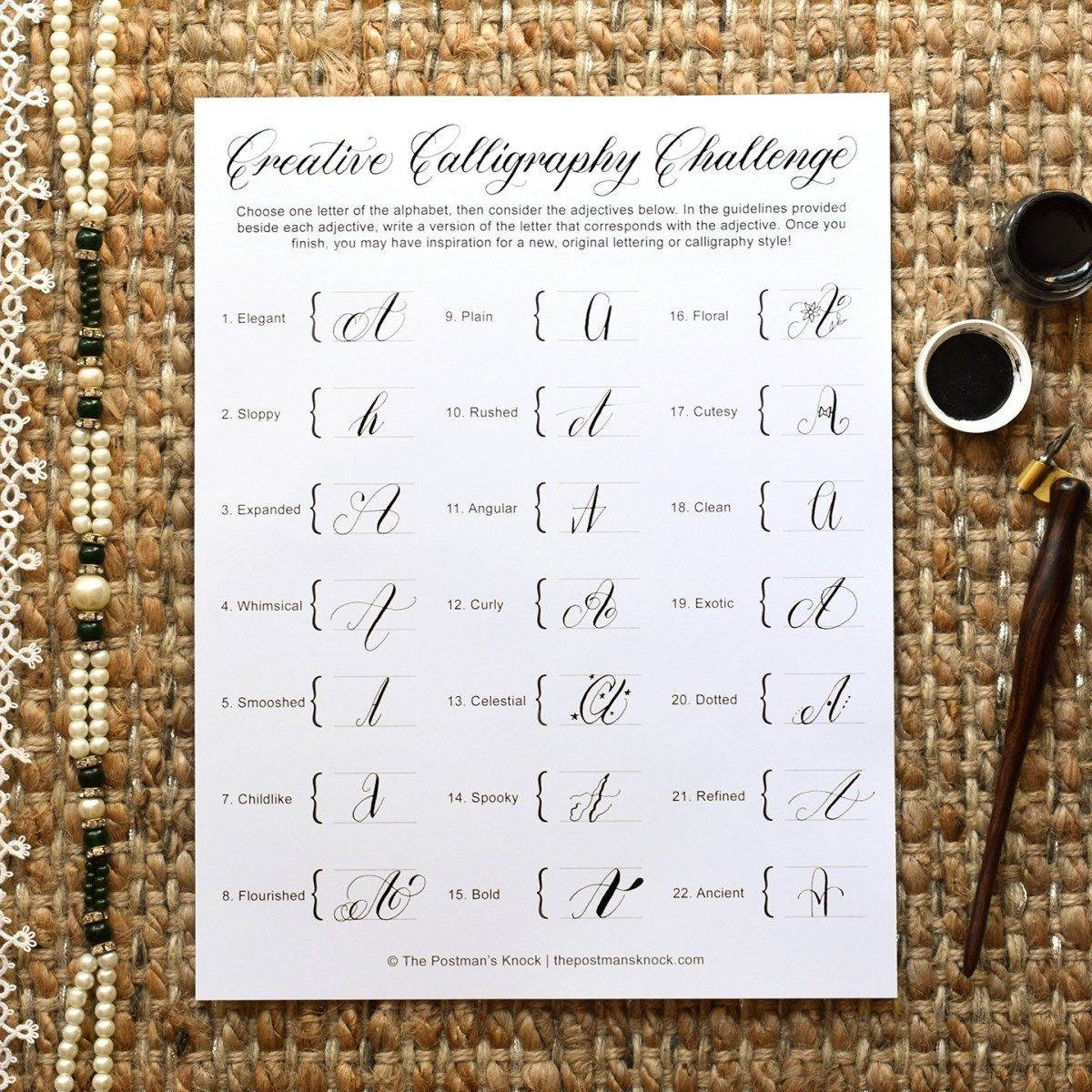 A Creative Calligraphy Challenge Calligraphy
