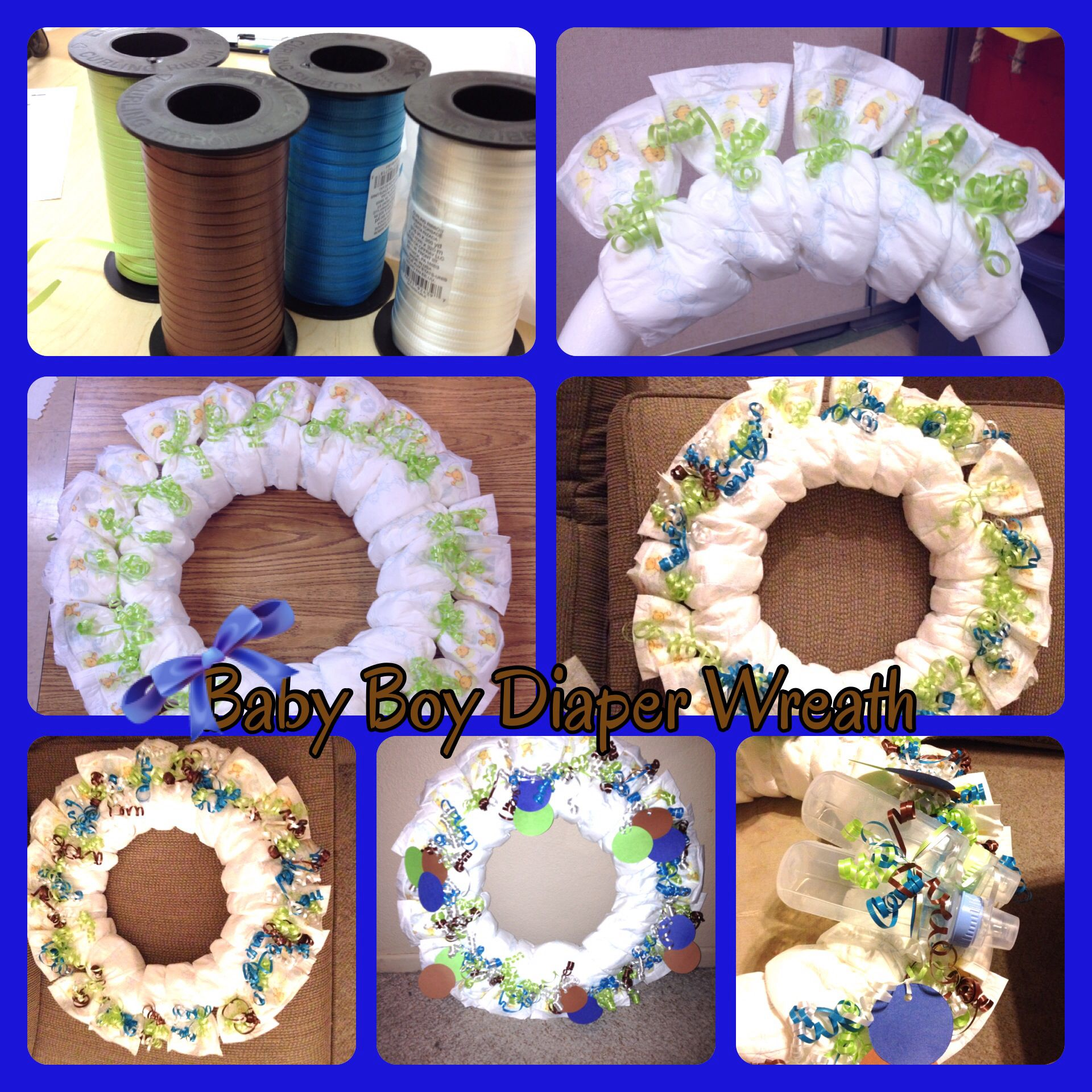 Baby Boy Wreath I Made For A Friends Baby Shower