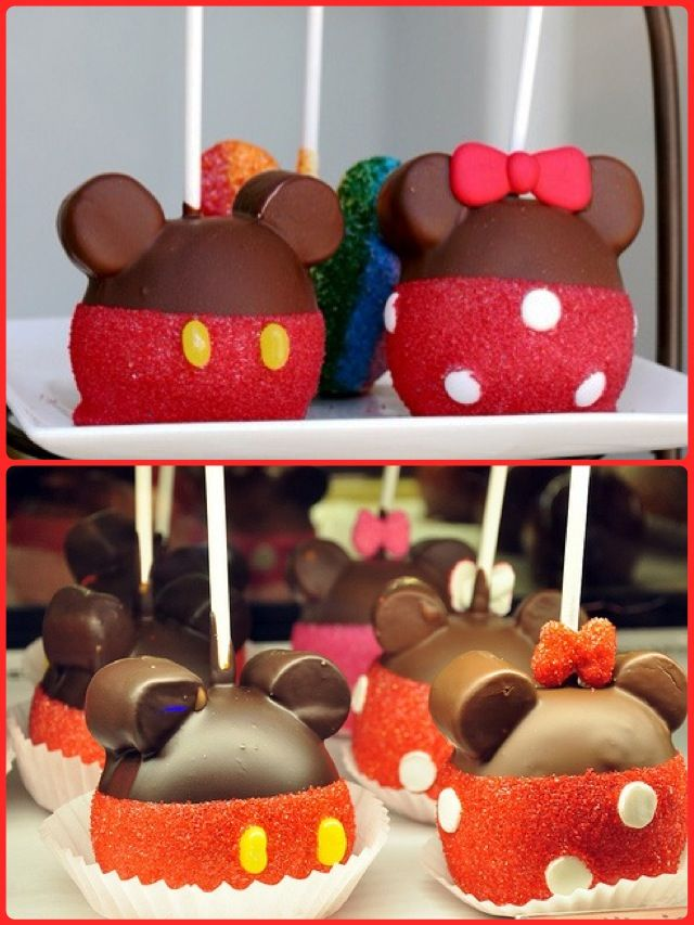 Mickey Minnie Mouse Candy Apples