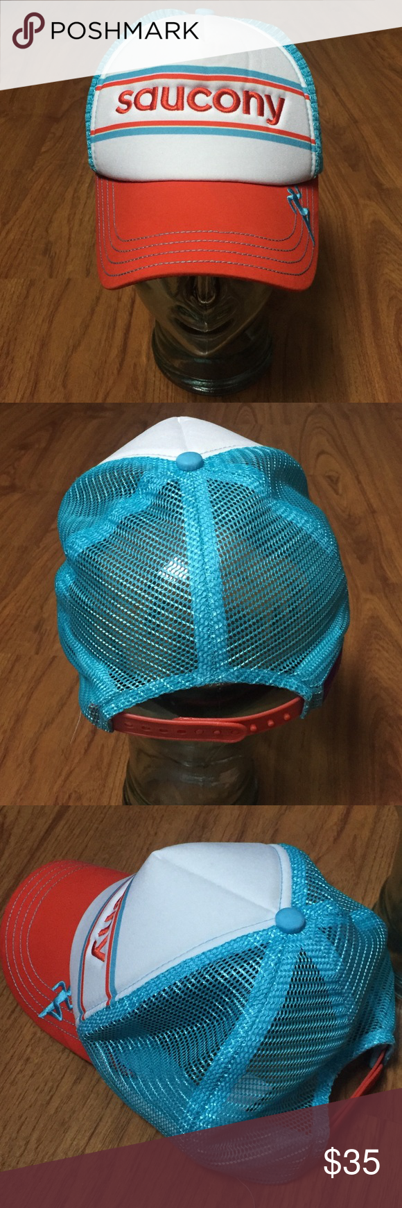 Saucony BOCO Technical Snapback Trucker Hat Previously owned snapback mesh  is soft pics are part of description ask questions before purchasing Saucony  ... bd4db449118