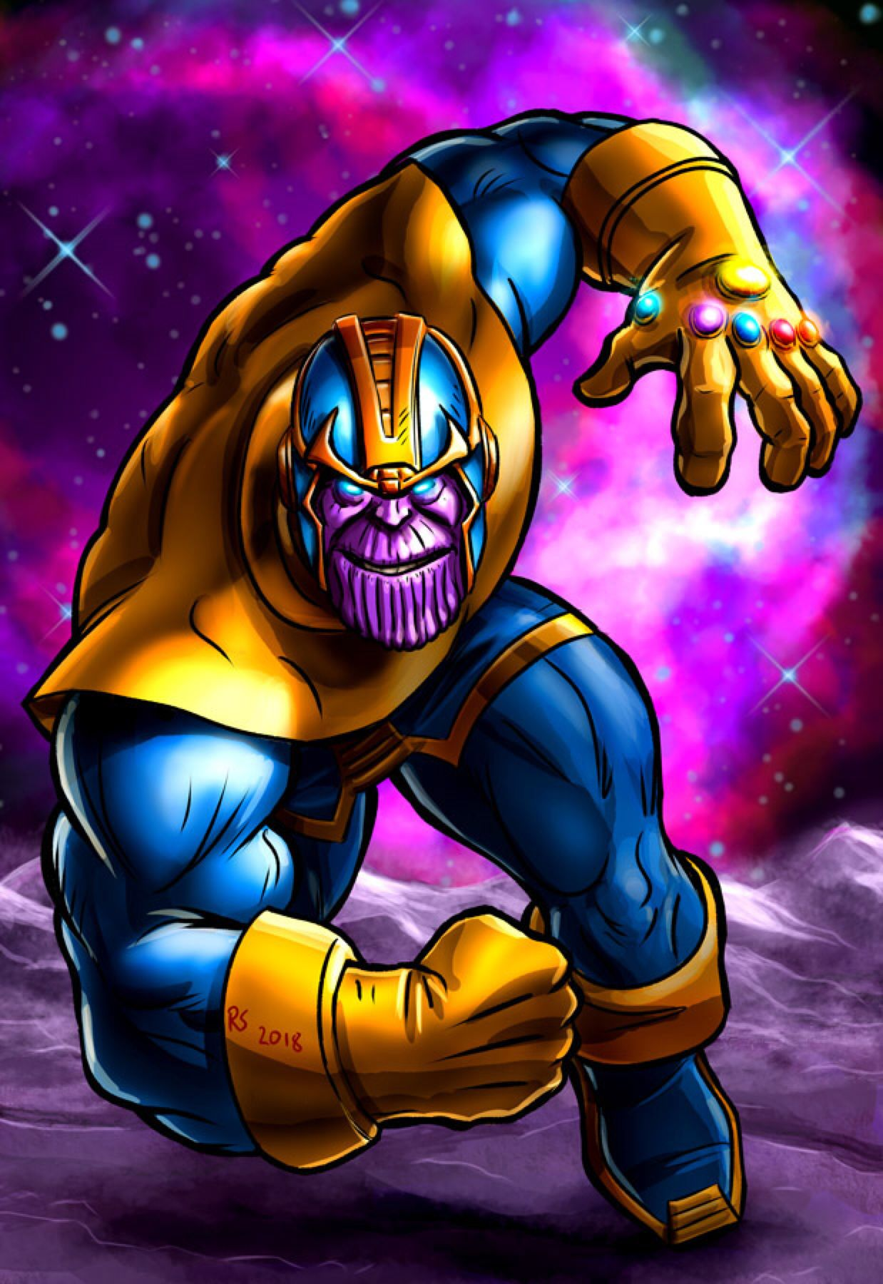 Marvel S Thanos By Robert Shane On Deviantart Marvel Thanos Marvel Mundo Marvel