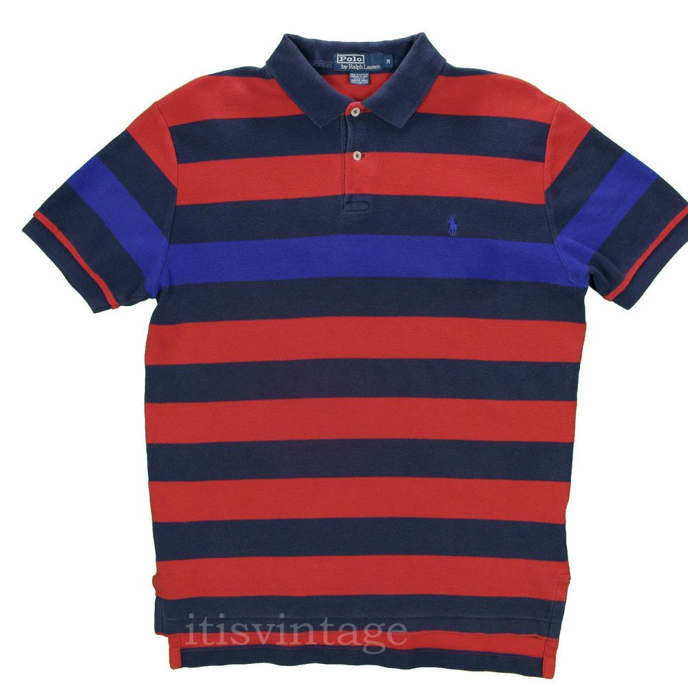 32d96e0c42f Polo Ralph Lauren Shirt 90's Vintage Medium USA Striped Color Block Short  Sleeve #PoloRalphLauren #Polo #itisvintage #madeinusa #colorblock # ralphlauren # ...