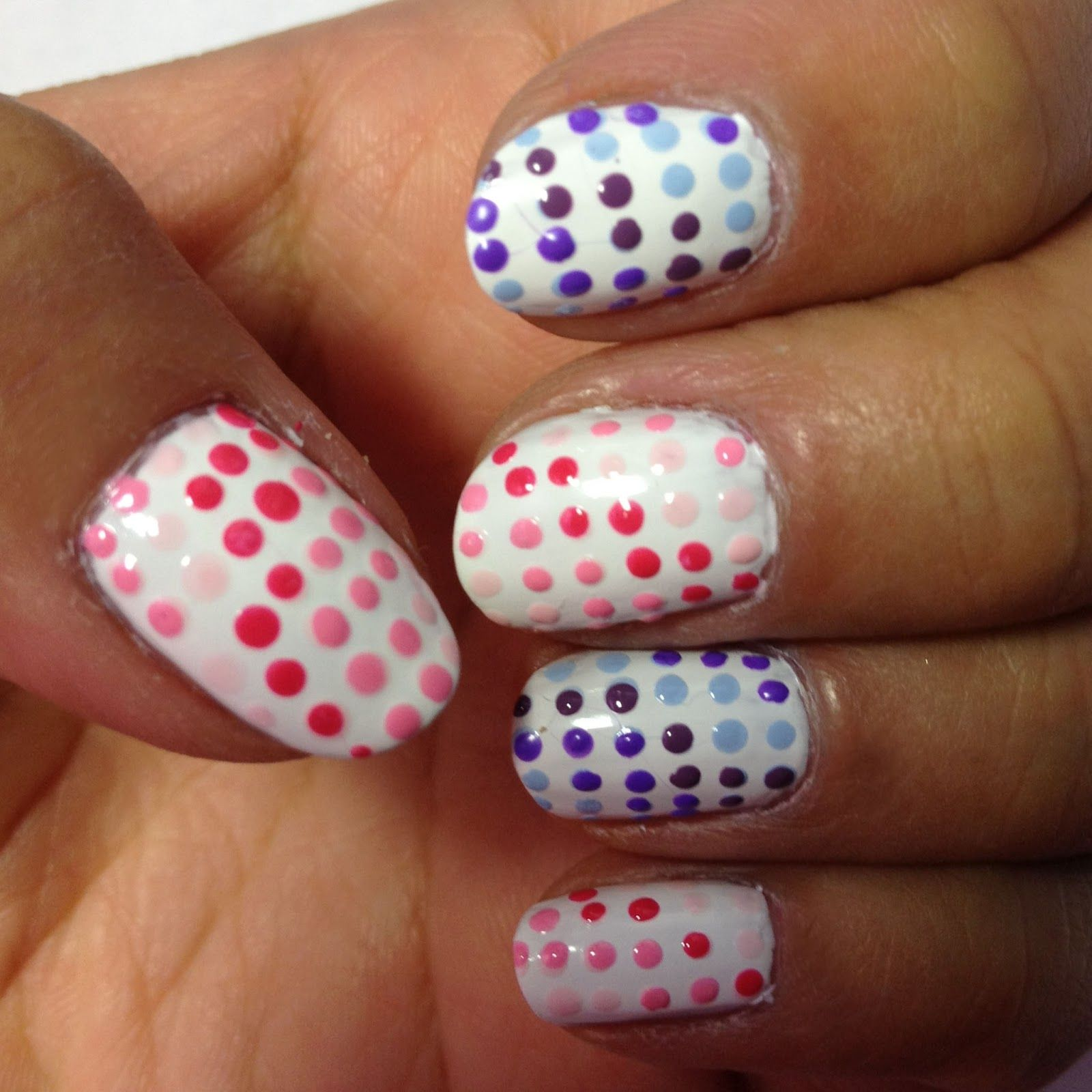 Gradient Dots Nail Art - Really easy to do. Click the image for ...