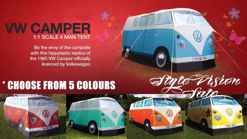 VW CAMPERVAN TENT VOLKSWAGON LICENSED 1965 KOMBI VAN CHOOSE FROM 5 COLOURS - NEW not happy  sc 1 st  Pinterest & VW CAMPERVAN TENT VOLKSWAGON LICENSED 1965 KOMBI VAN CHOOSE FROM 5 ...