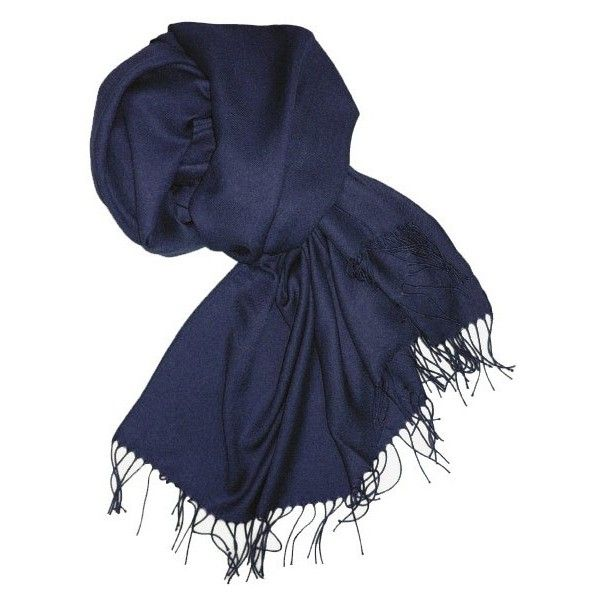 5d1cee64874442 Pashmina Schal in dunkel-blau - blauer Schal ❤ liked on Polyvore featuring  accessories